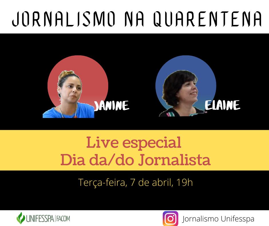 Live sobre o Dia do/da Jornalista