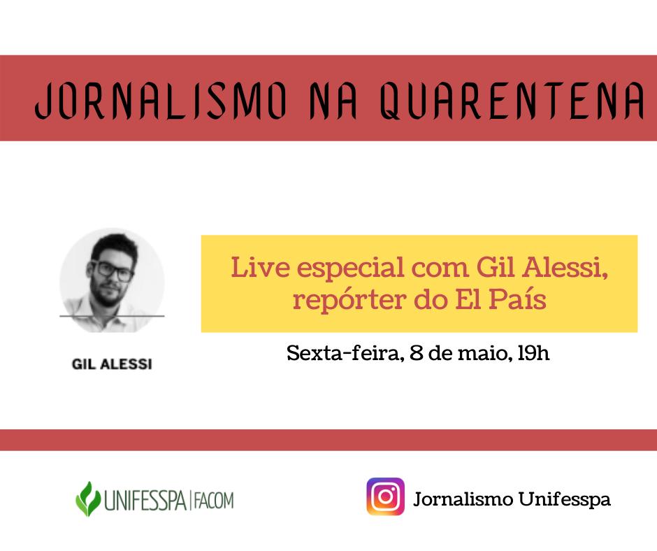 Facom promove live com jornalista do El País