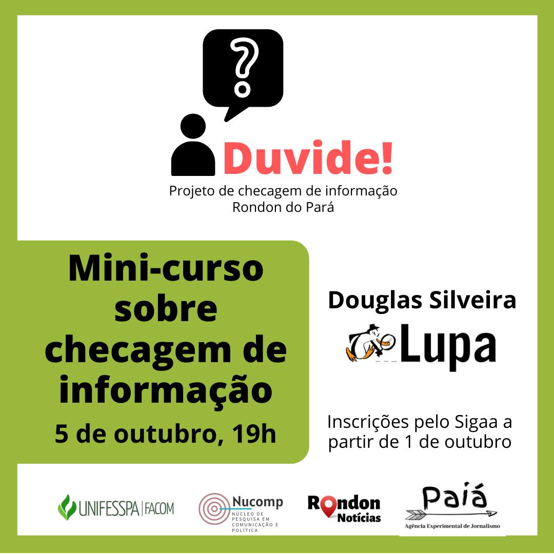 Projeto Duvide! promove mini-curso sobre checagem de informação