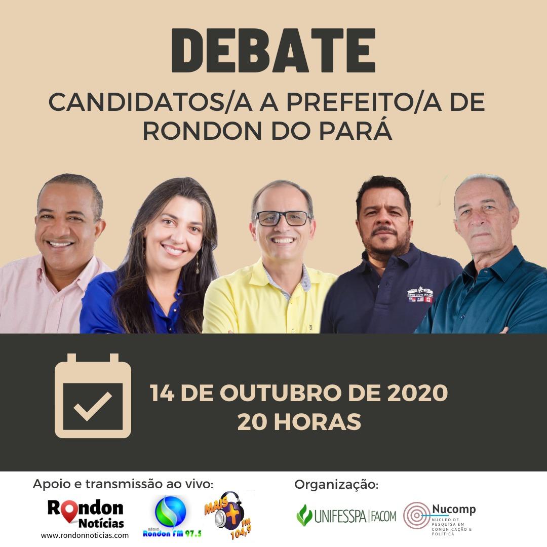 Rondon Notícias transmite debate entre candidatos/as